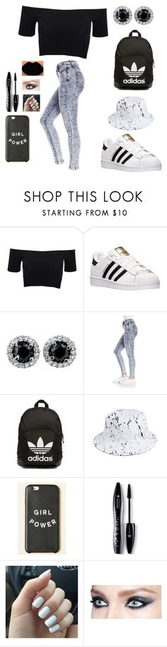 """""""Girl Power✨"""" by annaleigh1213 ❤ liked on Polyvore featuring American Apparel, adidas, Dollhouse, adidas Originals, HUF, Lancôme, women's clothing, women, female and woman"""