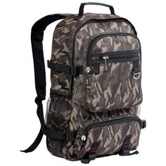 Camo Backpack for Travel and Adventure Outdoors Hikes #backpack #camo #camobackpack #outdoors Backpacks South Africa