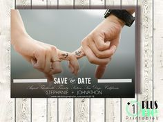DIY Printable Save the Date Custom Fade Wedding Colors  insert Photography by Plus One Printables DIY Printable / Digital Download Custom Save the Date Announcement by Plus One Printables - We are engaged, Custom, initials, names, photo, photography, peach, blue, white, rounded edges, engaged, engagement, we're engaged, wedding, announcement, any color, bridal shower, shower, wedding shower, engagement photos, chevron, plus, city, month, cute, love, invite, invitations, suites