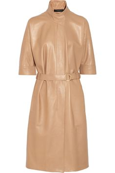 Calvin Klein Collection|Leather trench coat