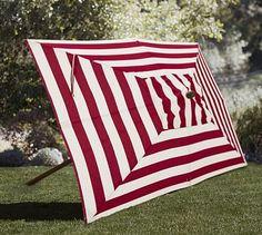 Rectangular Market Umbrella - Stripe #potterybarn