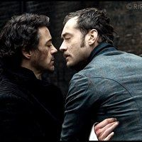 Sherlock and John Photo: A photo manipulation of Sherlock Holmes (Robert Downey Jr) and John Watson (Jude Law). This Photo was uploaded by MaeflowerJ Sherlock Fandom, Sherlock John, Sherlock Holmes Robert Downey, Robert Downey Jr, Johnlock, Tony And Pepper, Holmes Movie, Keanu Reaves, Guy Ritchie