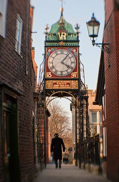 Chester City walls, clock - one of the most phtographed clocks in Britain  - www.healdcountryhouse.co.uk