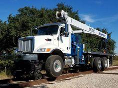 Sterling Rail - Hi-Rail Equipment For Sale Equipment For Sale, Heavy Equipment, Work Train, Mercedes Benz Trucks, Pressure Gauge, Train Tracks, Locomotive, Pedestal, Crane