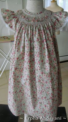 Full View of Gorgeous smocked dress.