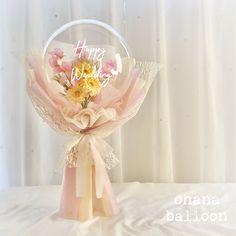 Balloon Flowers, Balloon Bouquet, Bubble Balloons, Bubbles, Flower Bouqet, Chocolate Flowers Bouquet, Balloon Arrangements, How To Wrap Flowers, Diy Bouquet
