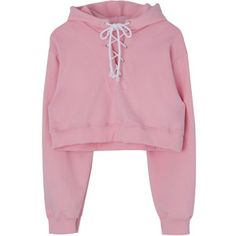 Lace-Up Front Cropped Hoodie