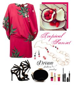 """""""Tropical Sunset - Magenta"""" by dreamfashionjewelry ❤ liked on Polyvore"""