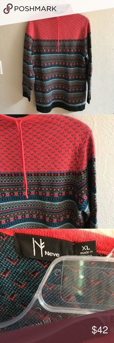 """Neve merino wool sweater Beautiful Nordic sweater in good used condition.  Soft merino wool.  Measures 30"""" long and 20"""" armpit to armpit Neve Sweaters Cowl & Turtlenecks"""