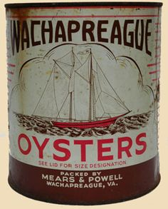 Mears & Powell Brand Oyster Tin - Wachapreague, VA