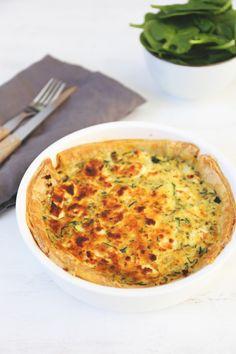 Quiche met courgette en geitenkaas Healthy Food, Healthy Recipes, My Recipes, Delicious Food, Nom Nom, Veggies, Pizza, Vegetarian, Foods