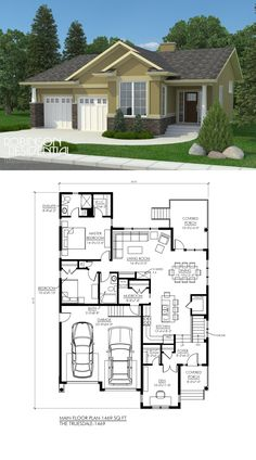 1469 sq. ft, 2 bedroom, 2 bath.