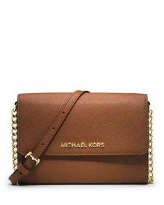 MICHAEL Michael Kors Jet Set Travel Large Phone Crossbody Bag, Luggage
