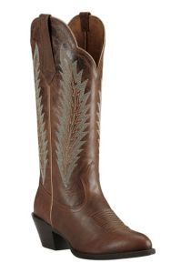 Ariat Desert Sky Women's Sassy Brown with Aqua Embroidery Western Round Toe Boots | Cavender's
