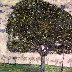 The Apple Tree II, 1916 (oil on canvas) by Klimt, Gustav (1862-1918); 80x80 cm; Private Collection