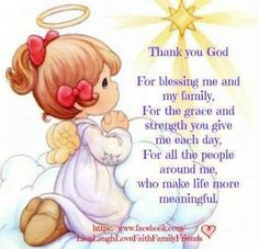 Precious Moments and Sayings - Yahoo Image Search Results Precious Moments Quotes, Precious Moments Figurines, Our Father In Heaven, Heavenly Father, Thank You God, Morning Prayers, My Precious, Spiritual Inspiration, Trust God