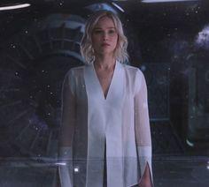 blouse white blouse shirt white passengers jennifer lawrence aurora scene movie