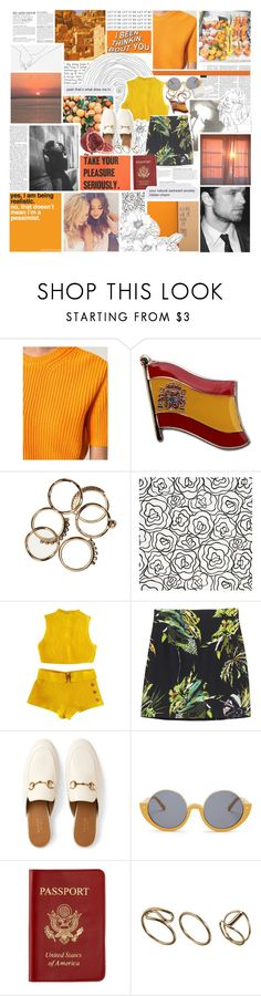 """""""I TOOK A PILL IN IBIZA"""" by etoilesdanse ❤ liked on Polyvore featuring MSGM, KAROLINA, Børn, Crate and Barrel, Proenza Schouler, Gucci, Marni, Passport, Essie and Anja"""