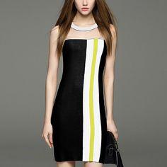 abd52c8963d45 Paneled Slim Bodycon Mini Dress Black Club Dresses, Casual Dresses, V Neck,  Backless