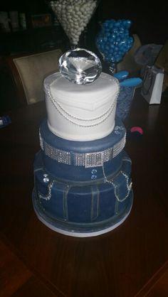 Denim & Diamonds Cake @ Lavish Cupcakes Vaughan, ON
