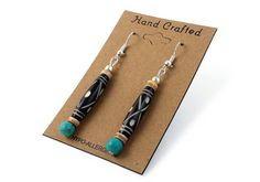 All of our jewelry is finely hand crafted in the united states using the finest materials available today. This hand beaded Southwestern earrings are made from 1 inch authentic buffalo bone hairpipe beads, 8 mm round beads, and Melon shell heishi beads. Expect the best quality and craftsmanship in every piece we make.  - Made from 1 inch authentic buffalo bone hairpipe beads, 8 mm round beads, and Melon shell heishi beads.. - Hand beaded by an artisan. - Length is approximately 2.5 inches…