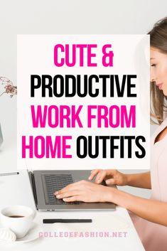 Our favorite cute & productive work from home outfits for online classes or jobs Lazy Day Outfits, College Outfits, Simple Outfits, Career Quotes, Career Advice, Working From Home Meme, Pajamas All Day, Job Interview Tips, Time Management Skills