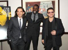 Uh oh......not just Bono, but Idris, too! I am Pinterest Pin tornnnnnn