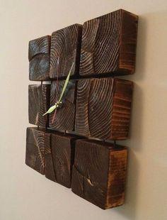 Ahşap Palet Parçalarıyla 40 Duvar Dekorasyonu Fikirleri 40 Wall Decoration Ideas with Wooden Pallet Parts Wooden Art, Wooden Crafts, Barn Wood, Rustic Wood, Diy Clock, Clock Ideas, Deco Originale, Wall Clock Design, Wood Clocks