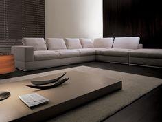 Sofá tapizado de esquina Colección Keen by i 4 Mariani   diseño Mauro Lipparini