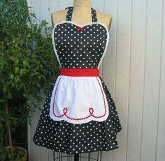 RÉTRO tablier I Love Lucy... rétro rouge par loverdoversclothing