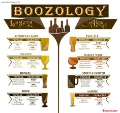 Beer 101 – Different Types Of Beer  #Boozology http://www.boozology.com/beer-101-different-types-of-beer