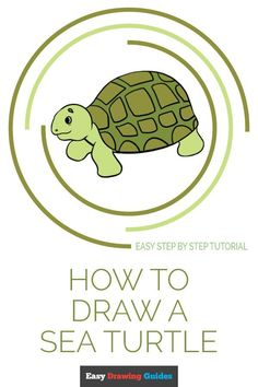 Learn How to Draw a Sea Turtle: Easy Step-by-Step Drawing Tutorial for Kids and Beginners. #SeaTurtle #drawingtutorial #easydrawing. See the full tutorial at… More Cute Kawaii Drawings, Cartoon Drawings, Easy Drawings, Animal Drawings, Cartoon Art, Cartoon Characters, Flower Drawing Tutorials, Drawing Tutorials For Kids, Drawing Ideas