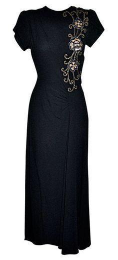 Dress 1940s 1stdibs.com                                                                                                                                                                                 More