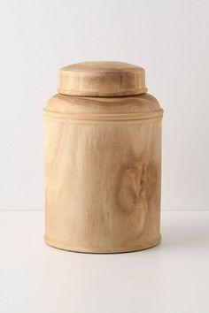 Wood jar? yes, please @Anthropologie