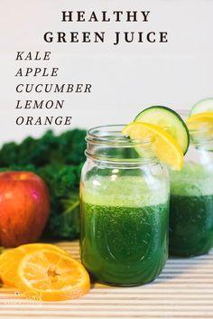 Fit & Healthy Jucie Recipe, Green Juice Kale Juice Detox Morning Juice