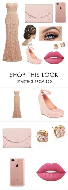 """""""Pink party"""" by abi-tong on Polyvore featuring D.anna, Material Girl, Kate Spade, Tory Burch, Belkin and Lime Crime"""