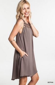 LADIES Baby Doll Dress with upper chest cut out – www.SayMoreBoutique.com
