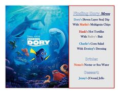 Disney Meal #42 - Finding Dory