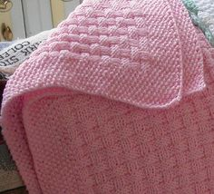 Basketweave Baby Blanket This knitting pattern is available from Ravelry.