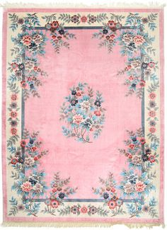 Pink european rose floral floor mat rug carpet victorian for Tapis shabby chic