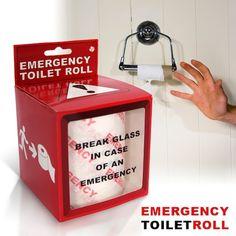 Rollo de papel de WC para emergencias
