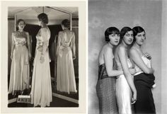 Anonyme. Robe du soir de Madeleine Vionnet, (1876-1975), fÈvrier 1933.