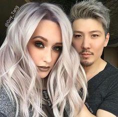 Silver/grey/lilac hair