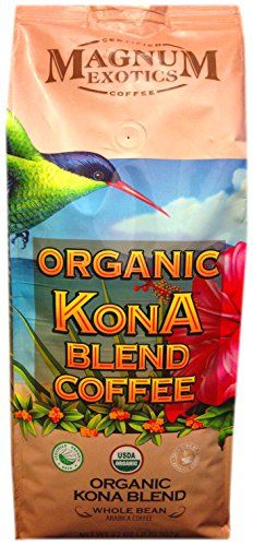 Magnum Exotics Organic Kona Blend Whole Bean Coffee  2 Pound Bag ** Find out more about the great product at the image link.