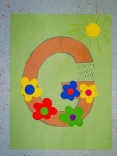 momstown hamilton: Preschool Alphabet Crafts G is for Garden