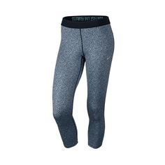 Women's Nike Relay Printed Crop Running Tights ($60) ❤ liked on Polyvore featuring activewear, activewear pants, bottoms, sport leggings, nike activewear, nike activewear pants, nike and nike sportswear