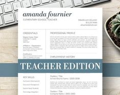 Modern Resume Template for Word, Page Resume + Cover Letter + Reference Page Cover Letter For Resume, Cover Letter Template, Letter Templates, Teaching Resume, Resume Writing, Manager Resume, Job Resume, Modern Resume Template, Creative Resume Templates
