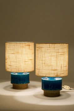 Anonymous; Ceramic Table Lamps by Atelje Luree, 1960s. #lighting