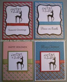 Dasher Christmas 2011 cards by Muffins Mama - Cards and Paper Crafts at Splitcoaststampers