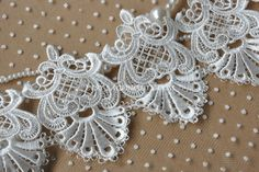 Exquisite Ivory Venice lace Retro Embroidered Lace Trim 4.33Inches Wide 1 Yard  Width: 4.33(11cm)  This lisitng is for 1 yard.  You can cut the flowers off and use them to deco your cloth, dress ,curtain and a lot of other things.  All the lace are perfect for lingerie, bra, dresses, dolls, bridal veil, altered art, couture, costume, jewelry design, pillowcase, home decor and other projects you could imagine. For more quantity, please feel free to convo me for custom listing. If you like it…